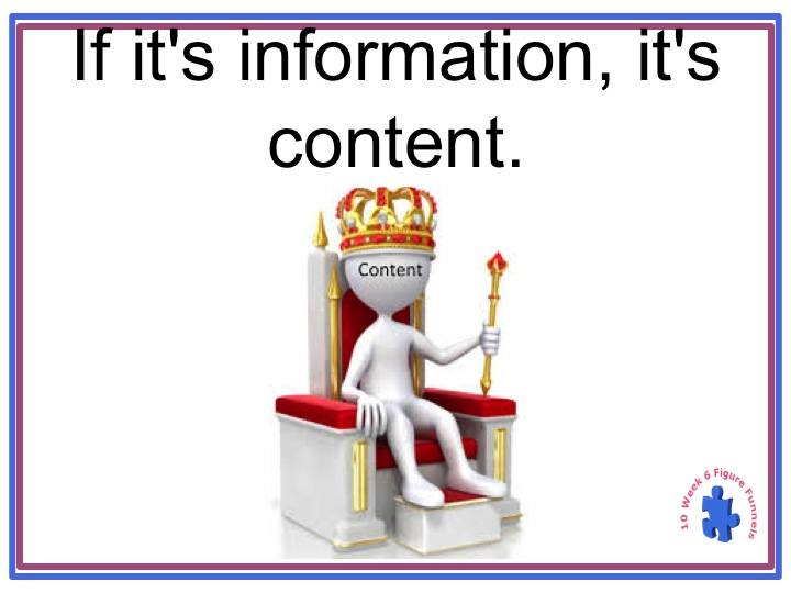 Information is Content