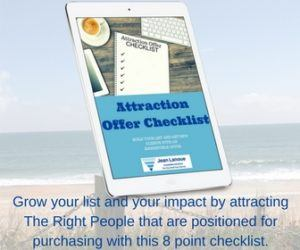 Attraction Offer - Lead Magnet Checklist